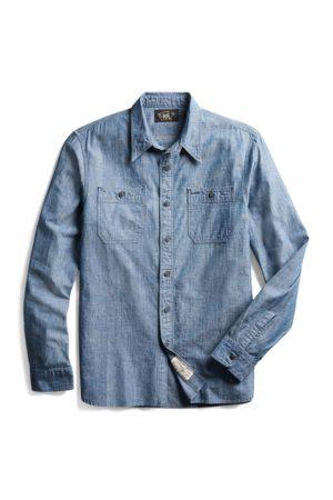 RRL Camisa de trabajo de cambray