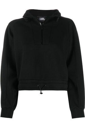 Karl Lagerfeld Jersey con cordones y raya con logo