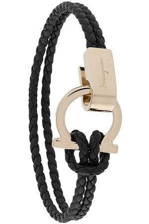 Salvatore Ferragamo Leather Gancini bracelet