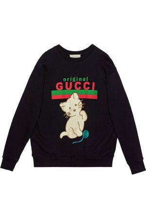 Gucci Sudadera Kitten con cuello redondo