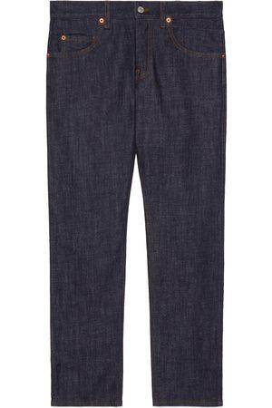 Gucci Hombre Vaqueros - Pantalón estrecho de denim lavado