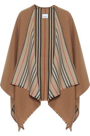 Burberry Capa Icon Stripe de lana