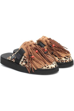 Alanui Mujer Chanclas - X Suicoke slippers pelo de becerro