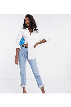 ASOS Camisa Boyfriend de manga larga de algodón en de ASOS DESIGN Tall
