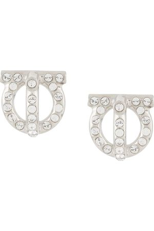 Salvatore Ferragamo Gancini style stud earrings