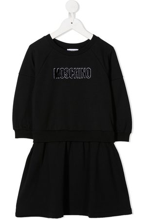 Moschino Long sleeve logo dress