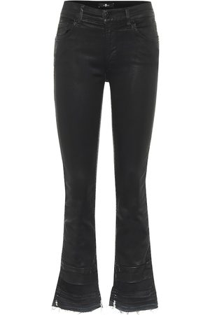 7 for all Mankind Jeans cropped de tiro medio