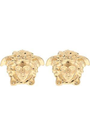 VERSACE Aretes Medusa con baño en oro