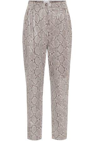 MAGDA BUTRYM Pantalones ajustados de piel grabada