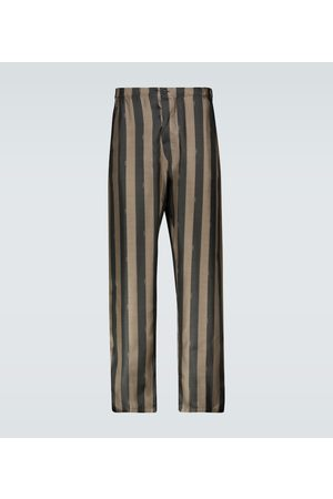 Fendi Pantalones de seda de rayas