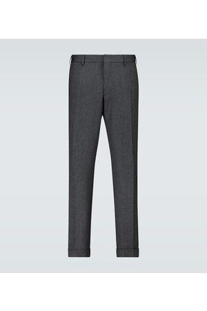 DRIES VAN NOTEN Pantalones de lana espigados