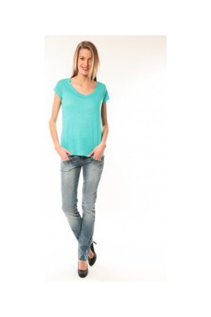 Little Marcel Camiseta T-Shirt Talin E15FTSS0116 Bleu Turquoise para mujer