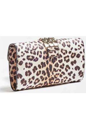 Guess Bolso de mano Bolso Prisma Clutch Leopard para mujer