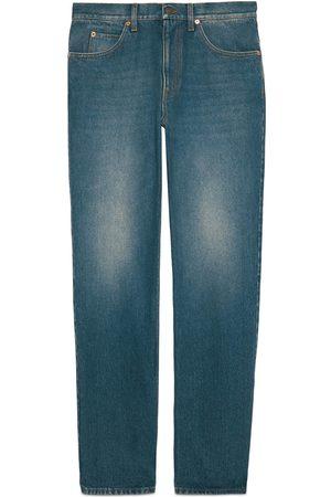 Gucci Hombre Vaqueros - Pantalón de ajuste normal de denim lavado