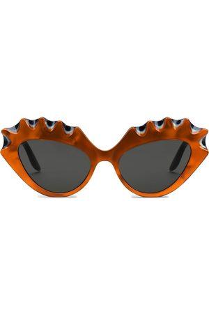 Gucci Gafas de sol estilo cat eye con G entrelazada