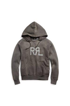 RRL Sudadera con capucha de mezcla de algodón con motivos gráficos