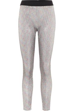 Paco rabanne Bodyline leggings de punto metalizados