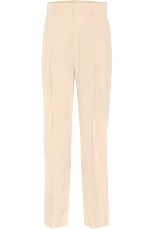 Chloé Pantalones rectos de crepé