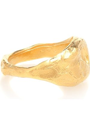Alighieri Anillo The Infernal Storm de plata esterlina con baño en oro de 24 ct