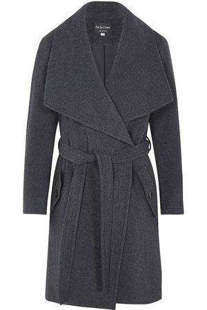 De la creme Gabardina Abrigo de abrigo de cachemir de lana de invierno para mujer