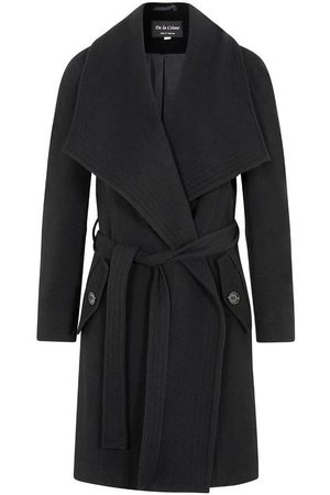 De la creme Abrigo Abrigo de abrigo de cachemir de lana de invierno para mujer