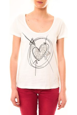 Desigual Camiseta T-Shirt Elisa 51T25D6 Blanc para mujer