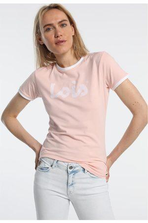 Lois Camiseta T Shirt Rose 420472094 para mujer