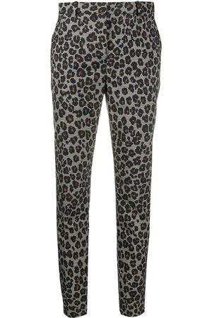 VERSACE Pantalones de vestir con motivo de leopardo