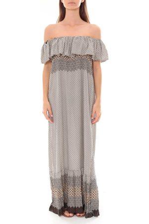 By La Vitrine Vestido largo Robe Longue Care of you Noir F50055 para mujer