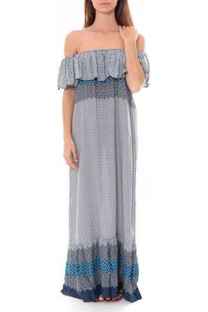 By La Vitrine Vestido largo Robe Longue Care of you Bleu F50055 para mujer