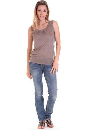 Sud Express Camiseta tirantes DEBARDEUR DOTESSE BRONZE para mujer