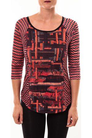 Custo Barcelona Camiseta manga larga Top Eleon rouge para mujer