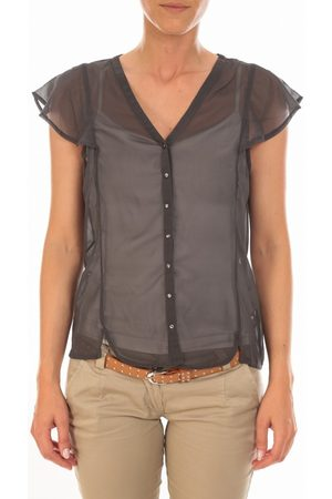Vero Moda Blusa Chemisier AGNES S/S Shirt Mix Asphalt para mujer