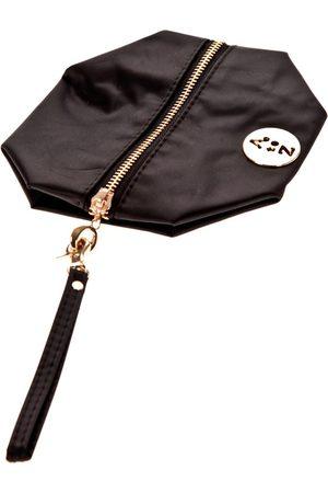 Very Bag Street Bolso Pochette besace bouton doré Noire para mujer