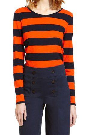 Petit Bateau Camiseta manga larga Tee Shirt ML 112175921 Orange/Bleu para mujer