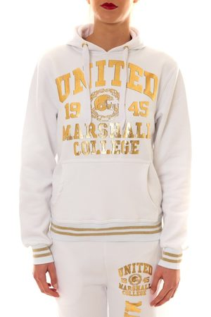 Sweet Company Jersey Sweat United Marshall 1945 blanc/or para mujer