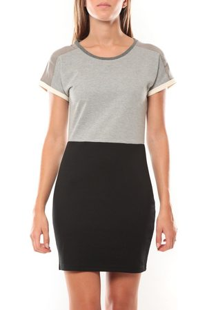 Vero Moda Vestido Bora SS Mini Dress 98259 Gris/Noir para mujer