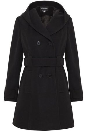 De la creme Parka Abrigo de invierno con capucha para mujer