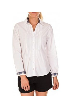 TOM TAILOR Mujer Camisas - Camisa Chemise Beatrix Blanche para mujer