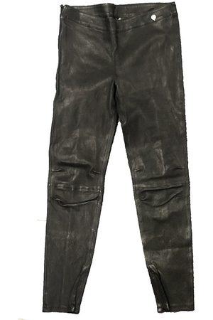 Rich & Royal Pantalón fluido Pantalon Noir Cuir 13Q997 para mujer