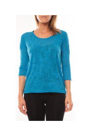 Vero Moda Camiseta manga larga Fiona 3/4 Top It 10108869 Bleu para mujer