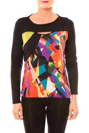 Bamboo's Fashion Camiseta manga larga Top BW623 noir para mujer