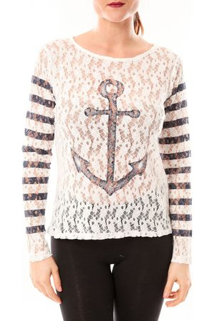 Little Marcel Polo Tee-shirt Tiwoman E15FTSL1202 Marin para mujer