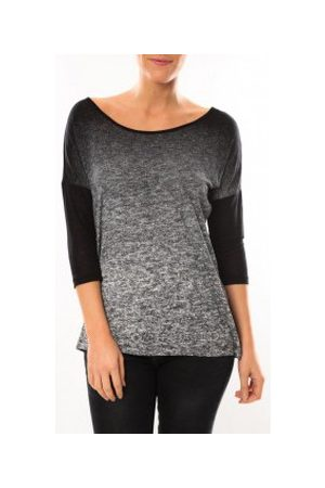 Vero Moda Camiseta manga larga Graing 3/4 Long Top 10104538 Noir/Gris para mujer