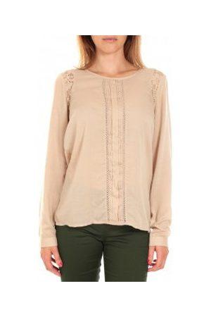 Vero Moda Camiseta manga larga Top LYON LS Doeskin para mujer
