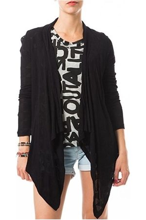 Vero Moda Blusa Fast Egypt L/S Drapy Cardigan It 10112493 Noir para mujer
