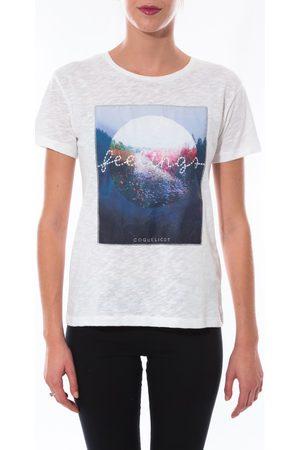 Coquelicot Camiseta T-shirt Blanc 16423 para mujer