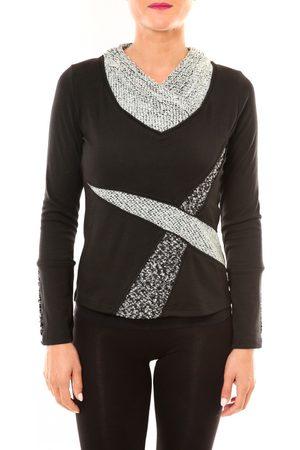 Bamboo's Fashion Camiseta manga larga Top BW632 noir para mujer