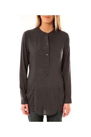 Vero Moda Blusa Alec L/S Tunic W/Out Top Pockets 10097849 Asphalte para mujer