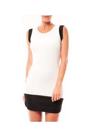 Vero Moda Vestido Signe S/L Mini Dress 10111107 Blanc/Noir para mujer